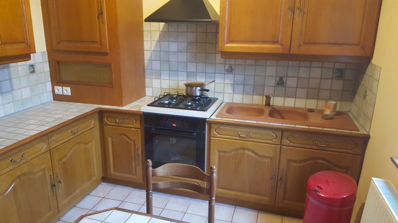 Fabrication et pose de cuisine aménagée rustique en chêne clair