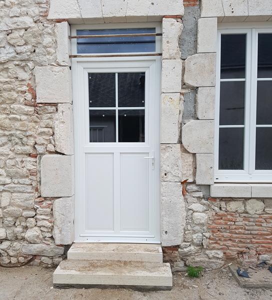 Porte fenêtre en PVC Blanc