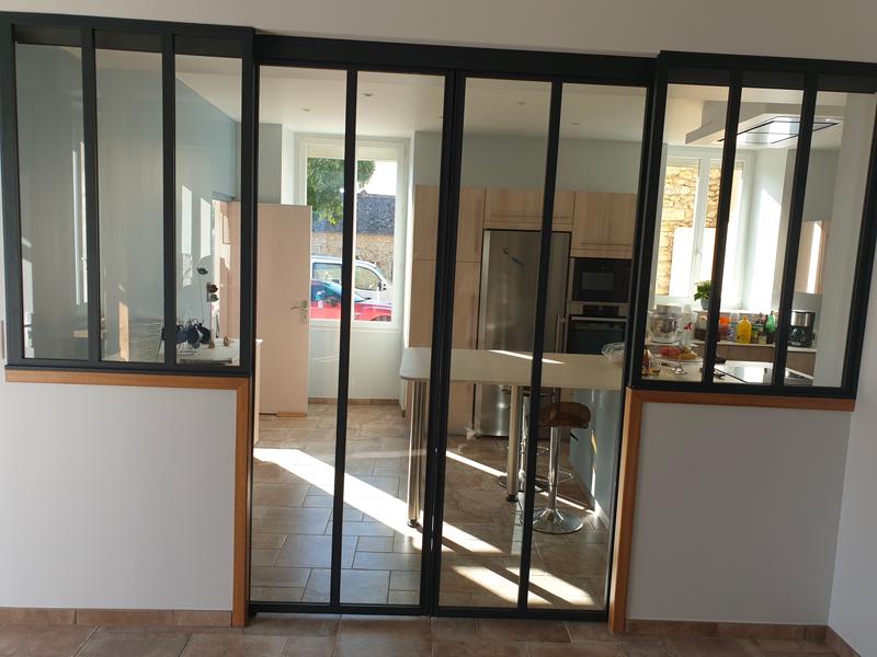 Rénovation totale d'un espace cuisine + double porte et verrière